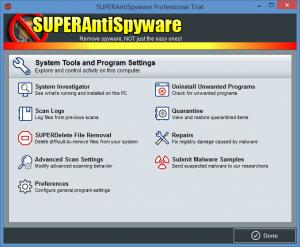 Enlarge SUPERAntiSpyware Pro Screenshot