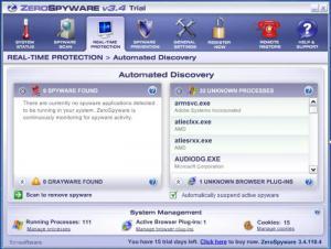 Enlarge ZeroSpyware Screenshot