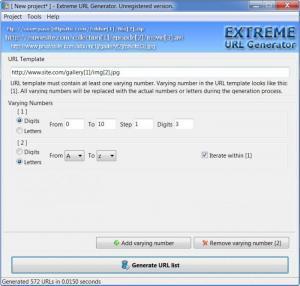 Enlarge Extreme URL  Generator Screenshot
