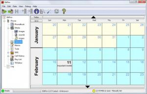 Enlarge BitPim Screenshot