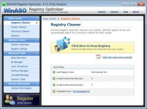 Enlarge WinASO Registry  Optimizer Screenshot