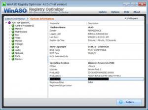 Enlarge WinASO Registry  Optimizer Screenshot