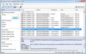 Enlarge Registry  Finder Screenshot