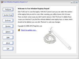 Enlarge Free Window Registry  Repair Screenshot