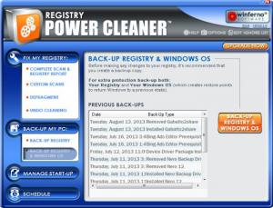 Enlarge Registry Power Cleaner Screenshot