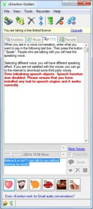 Enlarge vEmotion Golden Screenshot