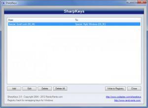 Enlarge SharpKeys Screenshot