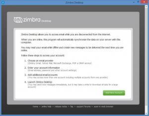 Enlarge Zimbra  Desktop Screenshot