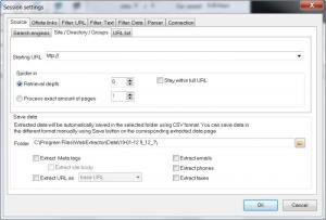 Enlarge Web Data Extractor Screenshot