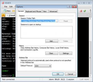Enlarge XShell Screenshot