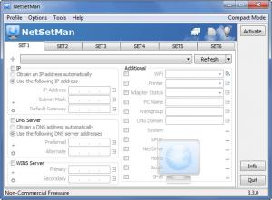Enlarge NetSetMan Screenshot