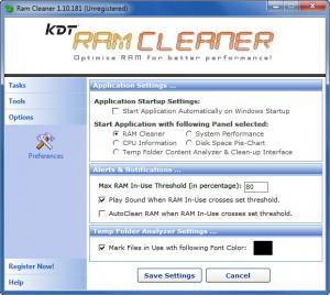 Enlarge KDT RAM Cleaner Screenshot