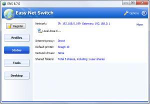 Enlarge Easy Net Switch Screenshot