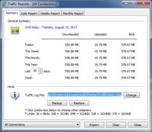 Enlarge Bandwidth Monitor Screenshot