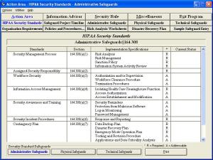 Enlarge HIPAA Security Rule Assistant Screenshot