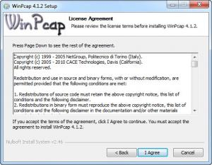 Enlarge WinPcap Screenshot