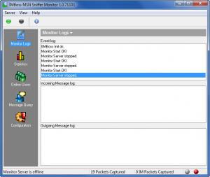 Enlarge IMBoss MSN Sniffer  Monitor Screenshot