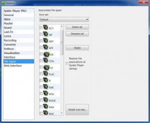 Enlarge Spider Player Screenshot