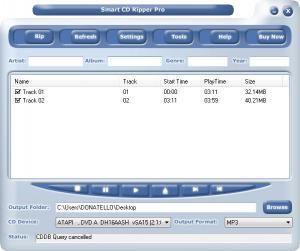 Enlarge Smart CD Ripper Pro Screenshot