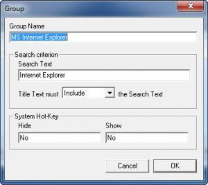 Enlarge Window Hide Tool Screenshot
