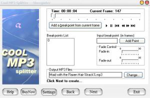 Enlarge Cool MP3 Splitter & Joiner Screenshot