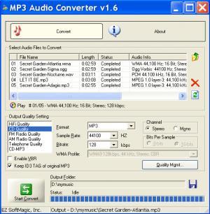 Enlarge MP3 Audio Converter Screenshot