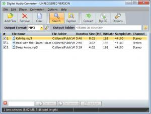 Enlarge Digital Audio Converter Screenshot