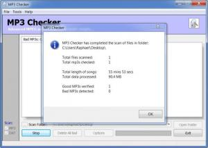 Enlarge MP3  Checker Screenshot