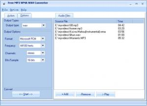 Enlarge Free MP3 WMA WAV  Converter Screenshot