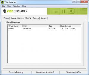 Enlarge Vibe Streamer Screenshot
