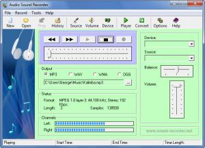 Enlarge Audio Sound Recorder Screenshot