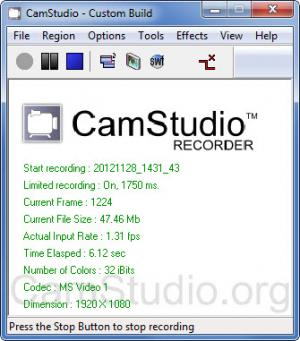 how to use camstudio