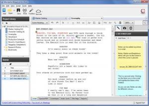 Enlarge Celtx Screenshot