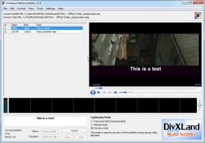 Enlarge DivXLand Media  Subtitler Screenshot