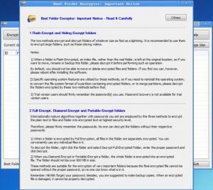 Enlarge Best Folder Encryptor Screenshot