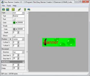 Enlarge Easy Banner Creator Screenshot