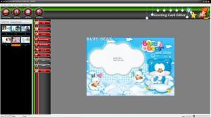 Enlarge Greeting Card Editor Screenshot