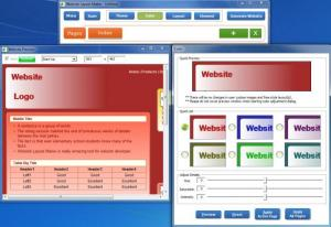 Enlarge Website Layout Maker Screenshot