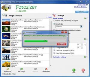 Enlarge Fotosizer Screenshot