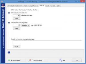 Enlarge Live File Backup Screenshot