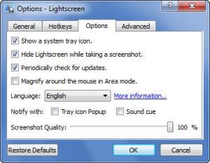 Enlarge Lightscreen Screenshot