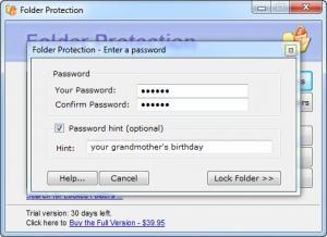 Enlarge Folder Protection Screenshot