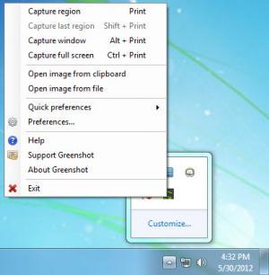 Enlarge Greenshot Screenshot