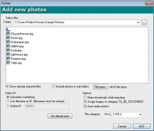 Enlarge PixFiler Screenshot