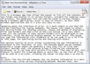 Enlarge wReplace Screenshot
