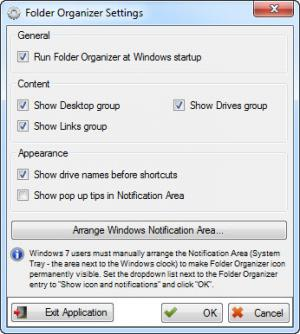 Enlarge Folder Organizer Screenshot