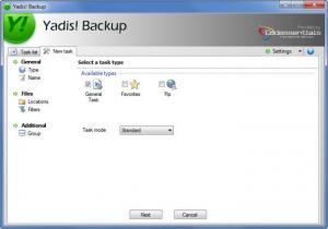 Enlarge Yadis! Backup Screenshot