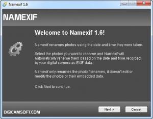 Enlarge Namexif Screenshot