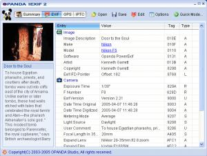 Enlarge Opanda  IExif Screenshot