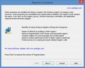Enlarge Registry Compactor Screenshot